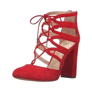 New in Box Vince Camuto Shavona Heels Red 8.5